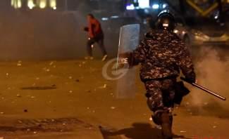 ارتفاع وتيرة الاشتباكات بين القوى الامنية وبعض المعتدين في بيروت