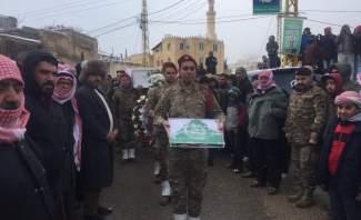 النشرة: تشييع الشهيد حسن عز الدين الذي سقط يوم امس في الهرمل