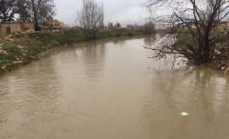 النشرة:ارتفاع منسوب المياه في نهري الليطاني والغزيل نتيجة هطول الأمطار