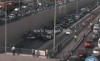 3 جرحى بحادث مروري داخل نفق المدينة الرياضية باتجاه السفارة الكويتية