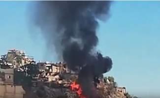 النشرة: اندلاع حريق ضخم في منطقة بياقوت بالمتن