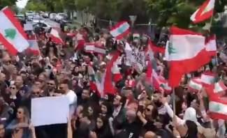 الجالية اللبنانية في ملبورن نفذت وقفة تضامنية مع المتظاهرين في لبنان