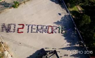 طلاب مدرسة سيدة الجمهور يرفعون الصوت بأجسادهم: لا للإرهاب