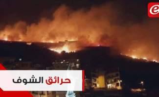الحرائق تجتاح المشرف والدبية والقرنة الحمرا... ومواطنون نزحوا من قراهم