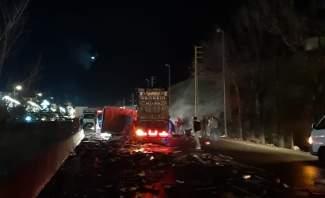 النشرة: ثلاثة جرحى نتيجة حادث سير على طريق ضهر البيدر بالقرب من مفرق جديتا