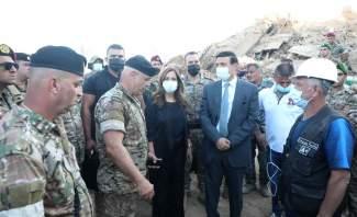 عكر ونجار تفقدا مرفأ بيروت بعد الكارثة والجرحى في المستشفى العسكري