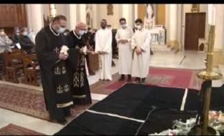 المونسنيور معوض ترأس رتبة سجدة الصليب في كاتدرائية مارمارون بطرابلس