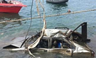 الدفاع المدني إنتشل جثة من داخل سيارة من البحر قبالة مرفأ بيروت