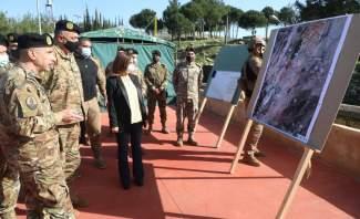 عكر زارت مراكز الجيش بالبقاع الغربي: انتشار الجيش هنا يثبت أنه حارس أمن الناس