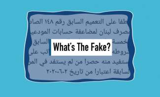 :What's The Fake  هل سيُطبّق تعميم مصرف لبنان رقم 148 مرّة ثانية؟