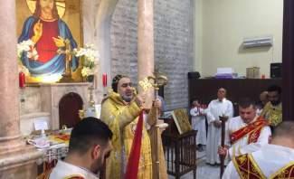 المطران سفر ترأس قداس عيد الفصح في كنيسة مار جرجس بزحلة