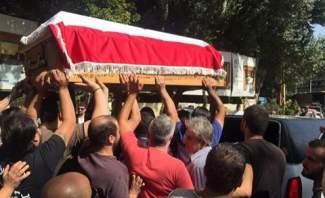 وصول جثمان الياس سكاف الى مدافن العائلة في زحلة