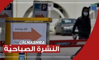 النشرة الصباحية: تسجيل 570 إصابة جديدة بفيروس كورونا وإضراب تحذيري لنقابة الأطباء في لبنان