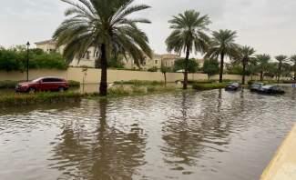 تساقط غزير للأمطار في الإمارات وتسجيل أعلى 5 كميات أمطار
