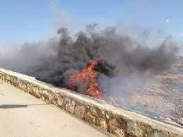 النشرة: اندلاع حريق كبير في خراج بلدة كفررمان