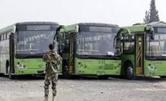 النشرة: عملية اخراج مسلحي جيش الإسلام من دوما مستمرة