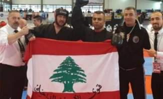 """معاون أول بقوى الأمن أحرز 3 ميداليات للبنان في رياضة الـ""""ووشو كو فو"""" خلال بطولة بالبرتغال"""