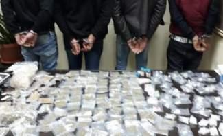 مكتب مكافحة المخدرات داهم شقة لتخزين المخدرات في طريق الجديدة