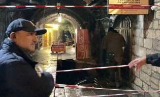 هبوط طريق في سوق جبيل القديم وأبي رميا يتفقد المكان