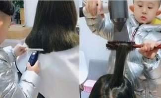 أصغر مصفف شعر نسائي في العالم
