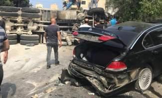 التحكم المروري: قتيل و10 جرحى حصيلة الحادث المروري على طريق عام بشامون