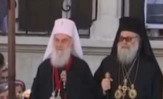 قداس احتفالي برئاسة البطريرك يوحنا العاشر بكنيسة الصليب المقدس بالقصاع
