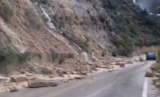 إنهيارات صخرية على طريق الغابون ومناشدات للمواطنين بتوخي الحذر