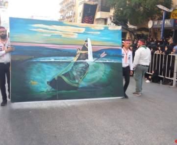 مسيرة لحزب الله في النبطية في الثالث عشر من محرم