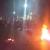 النشرة: قطع الطريق الرئيسي في بلدة مغدوشة بالإطارات المشتعلة