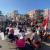 النشرة: بدء احتفالات المتظاهرين في صيدا بعيد الاستقلال