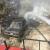 النشرة: حريق في عين الدلب شرق صيدا يمتد الى سيارة متوقفة في المكان