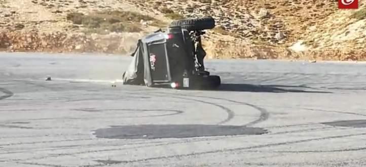 النشرة: إصابة شاب بكدمات بالوجه نتيجة انقلاب سيارته في منطقة كفرذبيان