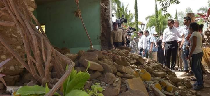 رئيس المكسيك زار إحدى بلدات ولاية واهاكا المتضررة من الزلزال المدمر