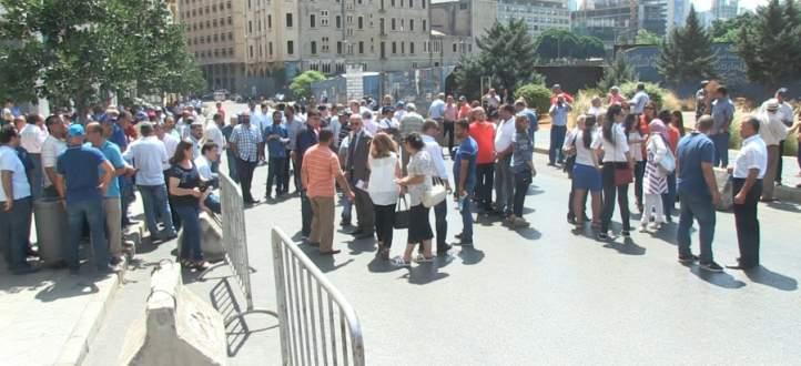 اعتصام للأساتذة المتعاقدين في التعليم الثانوي في ساحة رياض الصلح