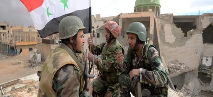 النشرة: الجيش السوري يواصل تمشيطه للمناطق التي سيطر عليها في ريف دمشق