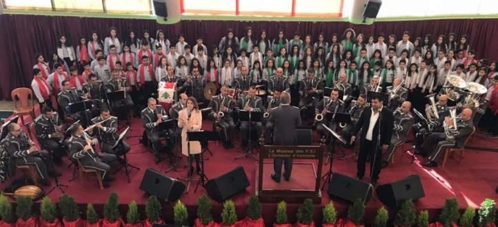 النشرة: مدرسة السلام الانطونية بزحلة تحتفل بعيد الاستقلال بحضور المطران معوض
