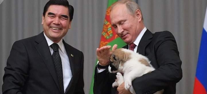 رئيس تركمانستان أهدى بوتين جروا من فصيلة