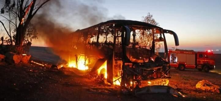 كتائب القسام تنشر مقطعا مصورا لاستهداف حافلة جنود إسرائيلية شرق جباليا