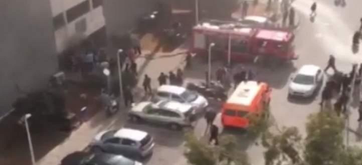 حريق في مستشفى بيروت الحكومي في بئر حسن ويتم العمل على إخماده