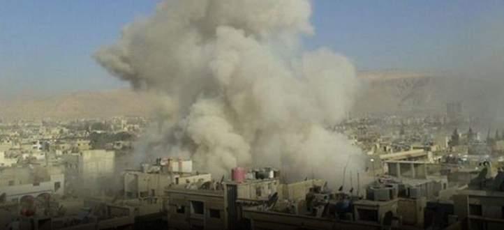 النشرة:سقوط أكثر من عشر قذائف صاروخية على أحياء دمشق وإصابة عدد من الموطنين