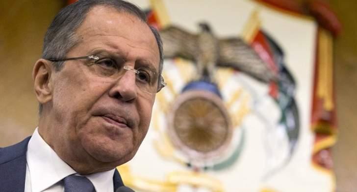 لافروف حول اتهامات فرنسا لسلاح الجو الروسي في سوريا: نسترشد بالقانون الإنساني