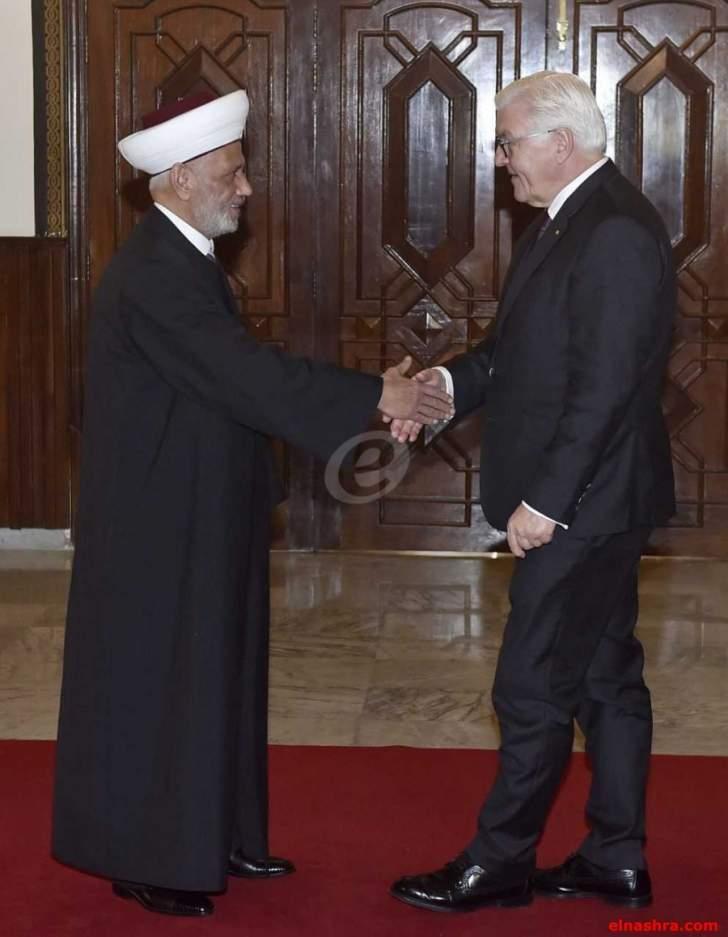دريان التقى الرئيس الالماني: نؤكد على أهمية العيش المشترك في لبنان
