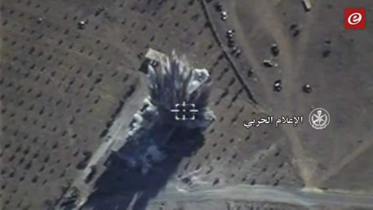 النشرة: الطيران الروسي يواصل قصف مواقع داعش في ريف حمص الشرقي