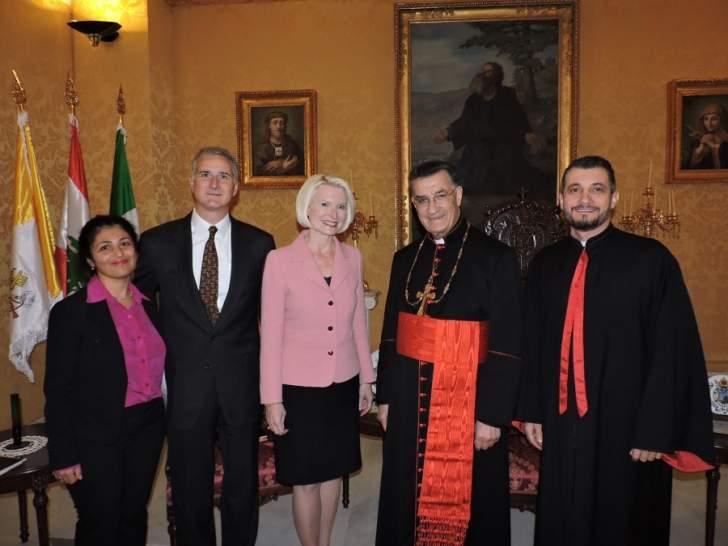 الراعي يبحث مع السفيرة الاميركية لدى الكرسي الرسولي اوضاع الشرق الاوسط