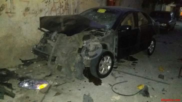 مصادر للنشرة: يوسف الزينة فجر سيارته في مخيم الرشيدية بوضع الـTNT
