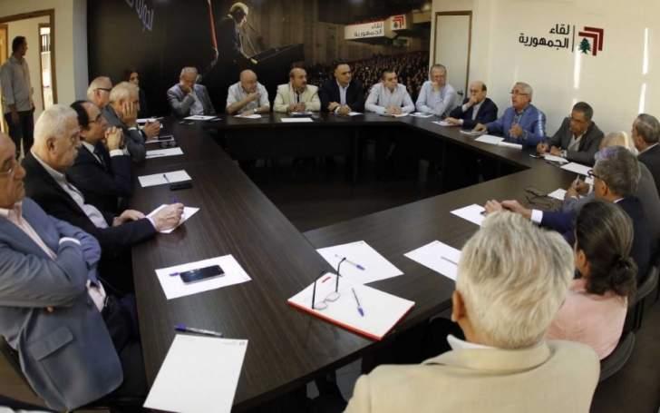 لقاء الجمهورية رفض تهويد القدس: لعدم الإبداع في تنميق الكلمات