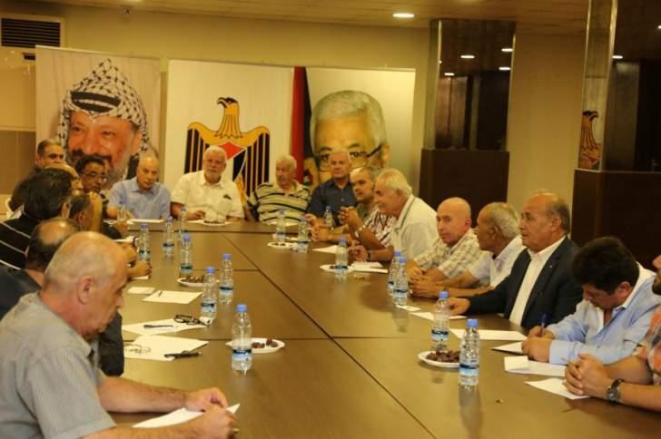 القيادة الفلسطينية والفصائل: لصون امن واستقرار المخيمات عبر تعزيز العمل