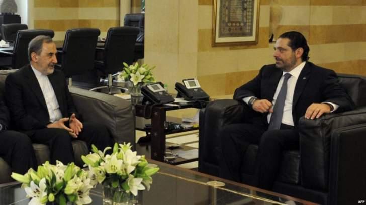 ولايتي ينفي طلب الحريري منه عدم تدخل إيران في شؤون لبنان الداخلية