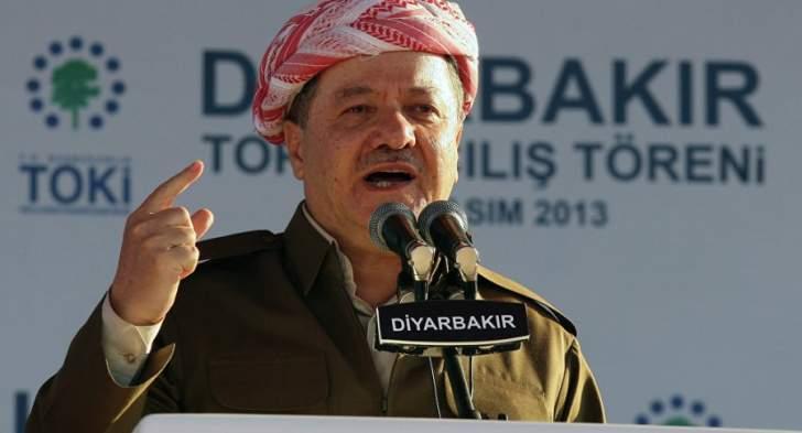 بارزاني: البرلمان العراقي لن يتمكن من كسر إرادة الشعب الكردي