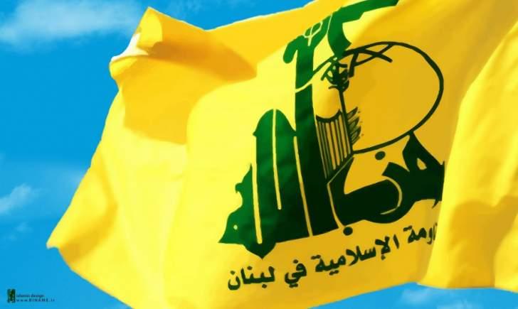 حزب الله:للقيام بتحركات فاعلة لفضح عدوان أميركا على القدس والوقوف بوجهه